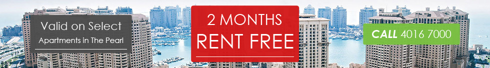 2 Months Rent Free. Valid on Select Apartments in The Pearl