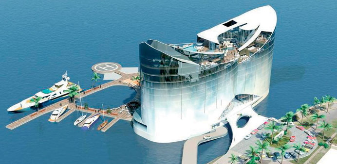 Qatar interested in floating hotels from finland coreo for Architecture firms in qatar